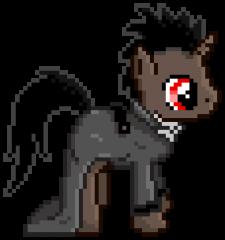 Pony Pixel Sprite - Saffron Shadow