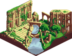 Isometric Forest Ruins
