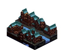 Isometric Medieval town