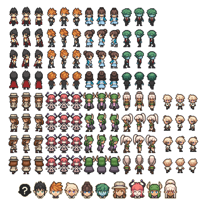 Walking Sprites, Character Icons - Characters - RPG Maker