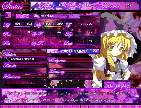 Touhou Tales: Spirit of Dark Memory - Games in Progress