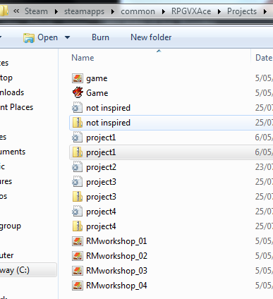 Files are locked hidden? - Editor Support and Discussion - RPG Maker