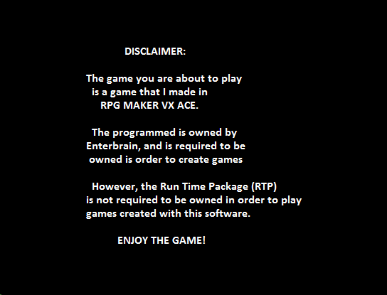 A message before the title screen - Programming - RPG Maker